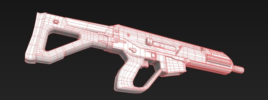 Future Assault Rifle royalty-free 3d model - Preview no. 7