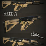 Future Assault Rifle 3d model
