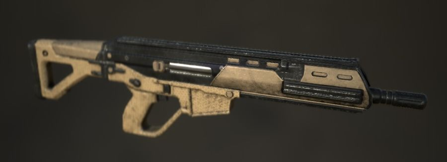 Future Assault Rifle royalty-free 3d model - Preview no. 3