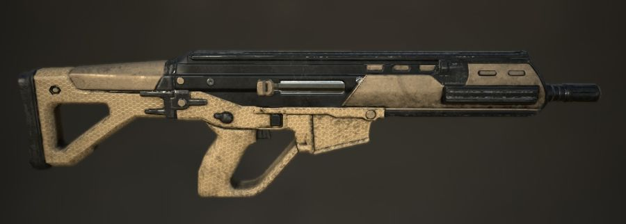Future Assault Rifle royalty-free 3d model - Preview no. 2