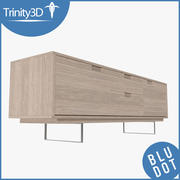Two-Drawer Credenza 3d model