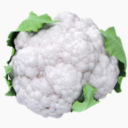 Cauliflower With Leaves 3d model