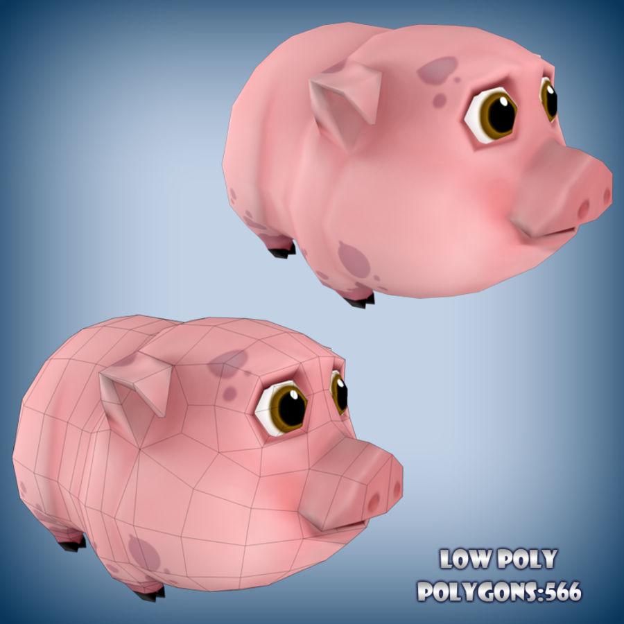 Carino maiale di cartone animato forma di borsa con tracolla per i