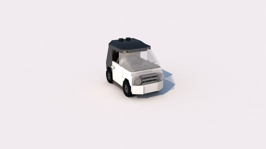 Lego car royalty-free 3d model - Preview no. 3