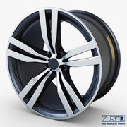 Колесо Style 300 железный серый Mid Poly 3d model