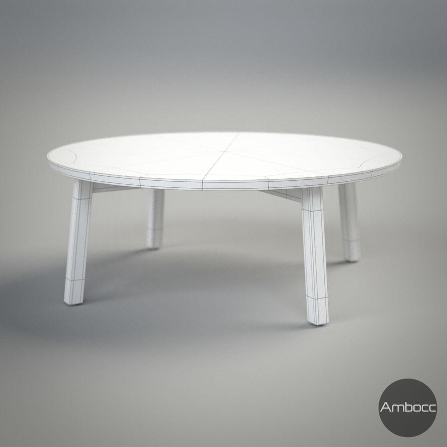 Ikea Inspired Stockholm Coffee Table Walnut Veneer 93x35cm Royalty Free 3d Model