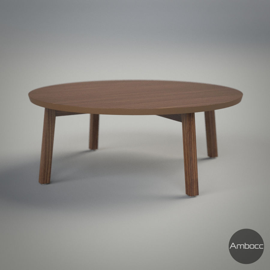 Ikea Stockholm Coffee Table Walnut Veneer 93x35cm 3d Model 10