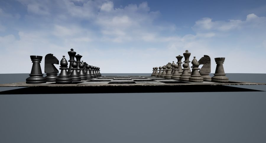 Rock Chess Set royalty-free 3d model - Preview no. 3