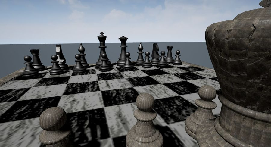 Rock Chess Set royalty-free 3d model - Preview no. 2