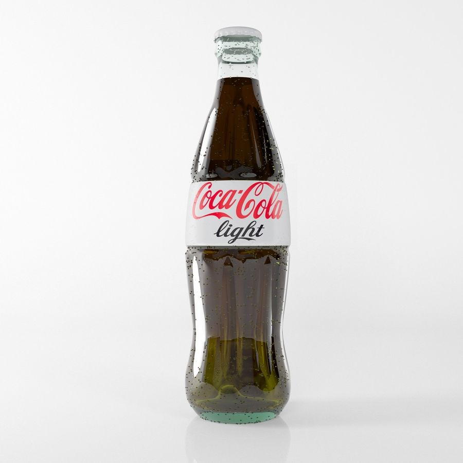 coca cola bottle royalty-free 3d model - Preview no. 4