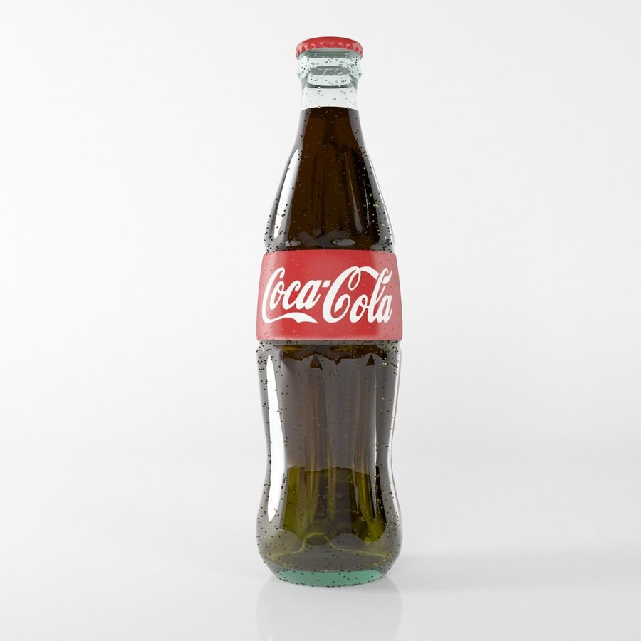 coca cola bottle royalty-free 3d model - Preview no. 2