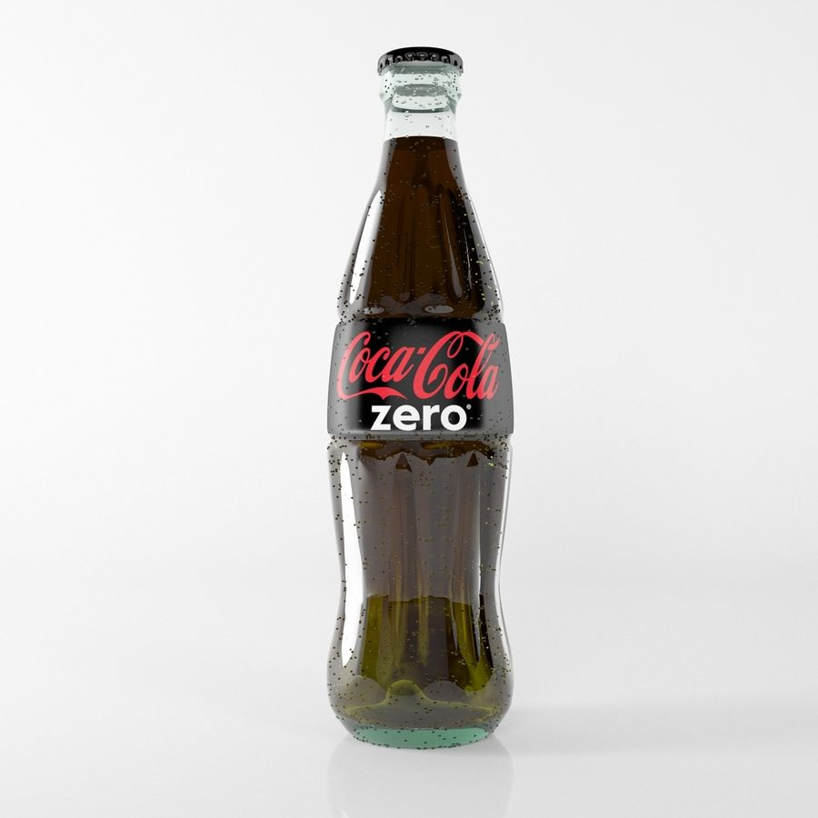 coca cola bottle royalty-free 3d model - Preview no. 3