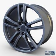 Style 303 wheel ferric gray Mid Poly 3d model