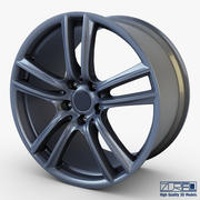 Style 303 wheel ferric gray Mid Poly 3d model