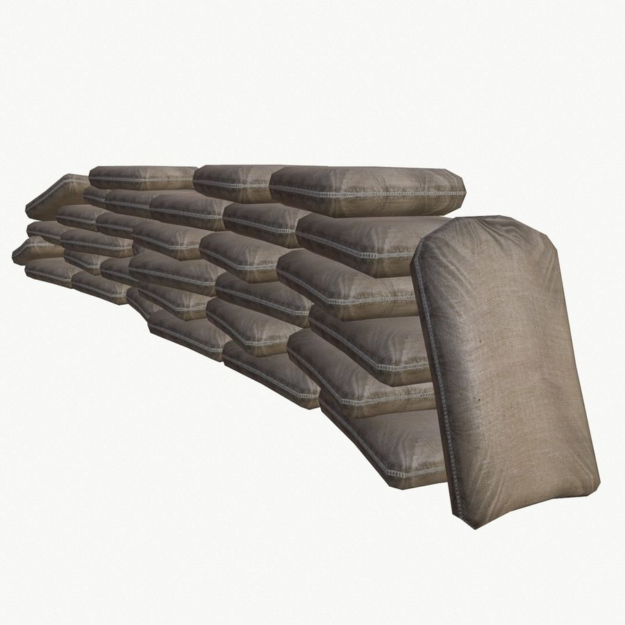 Sand bags royalty-free 3d model - Preview no. 5