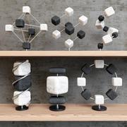 Molécules de décor 3d model