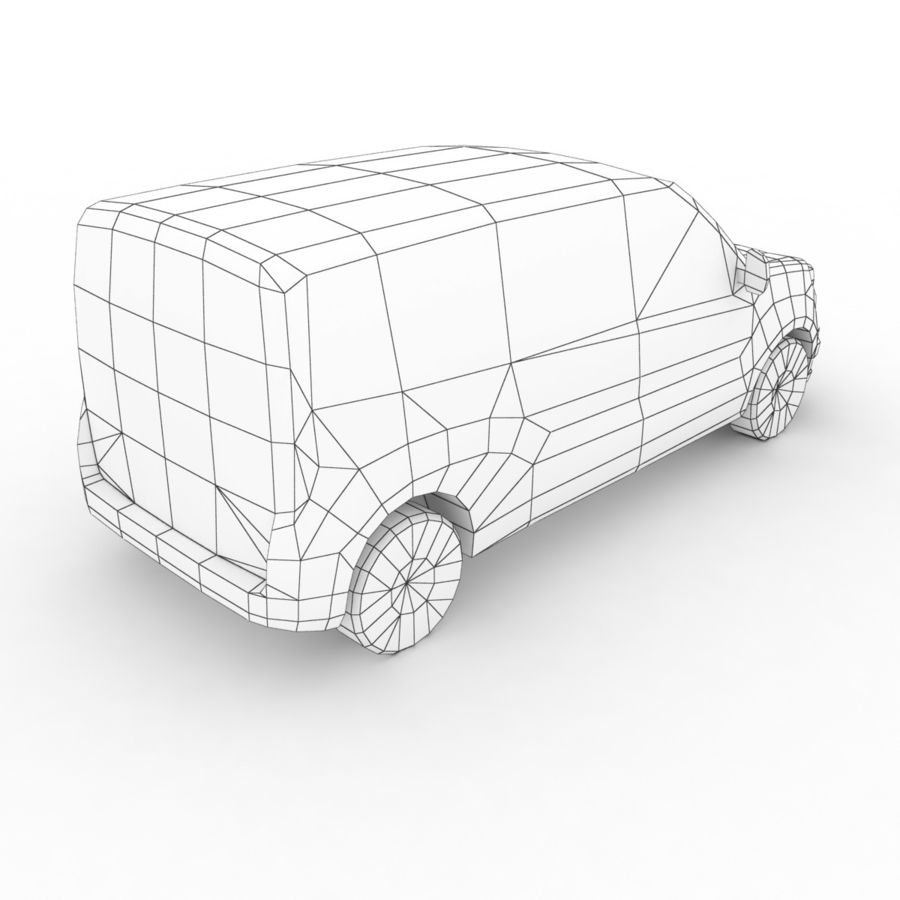 Fiat Doblo 2015 royalty-free 3d model - Preview no. 8