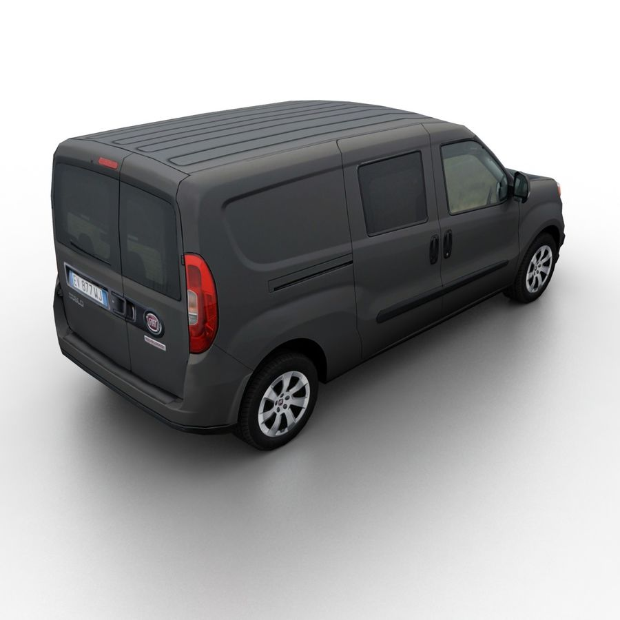 Fiat Doblo 2015 royalty-free 3d model - Preview no. 2