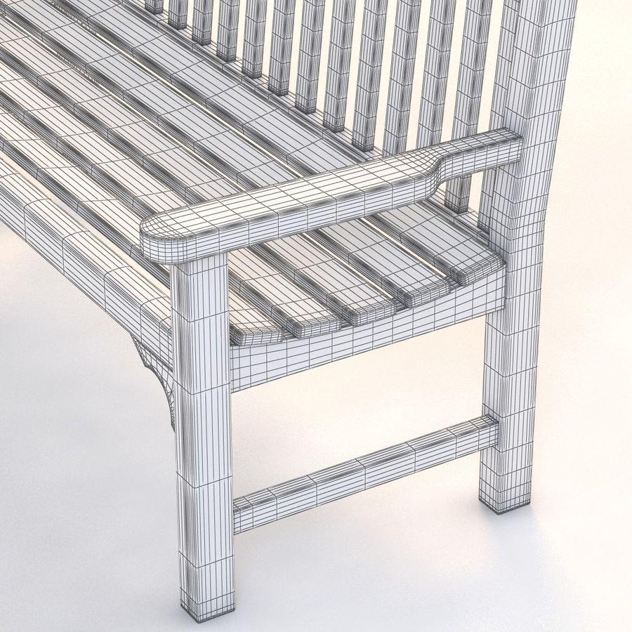 Amazing Flat Arm Heavy Duty Outdoor Bench 3D Model 39 Obj Max Machost Co Dining Chair Design Ideas Machostcouk