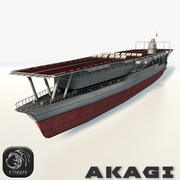 Akagi aircraft carrier 3d model