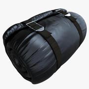 Czarny materac zwinięty 3d model