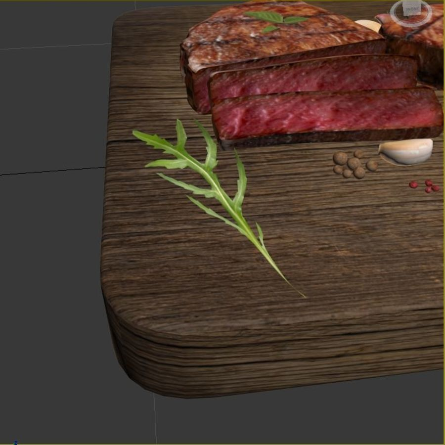 Smaczny Stek royalty-free 3d model - Preview no. 6