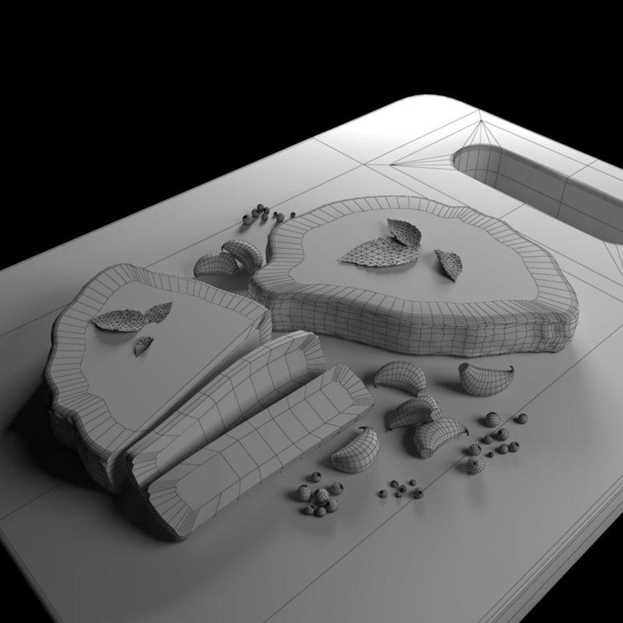 Smaczny Stek royalty-free 3d model - Preview no. 3