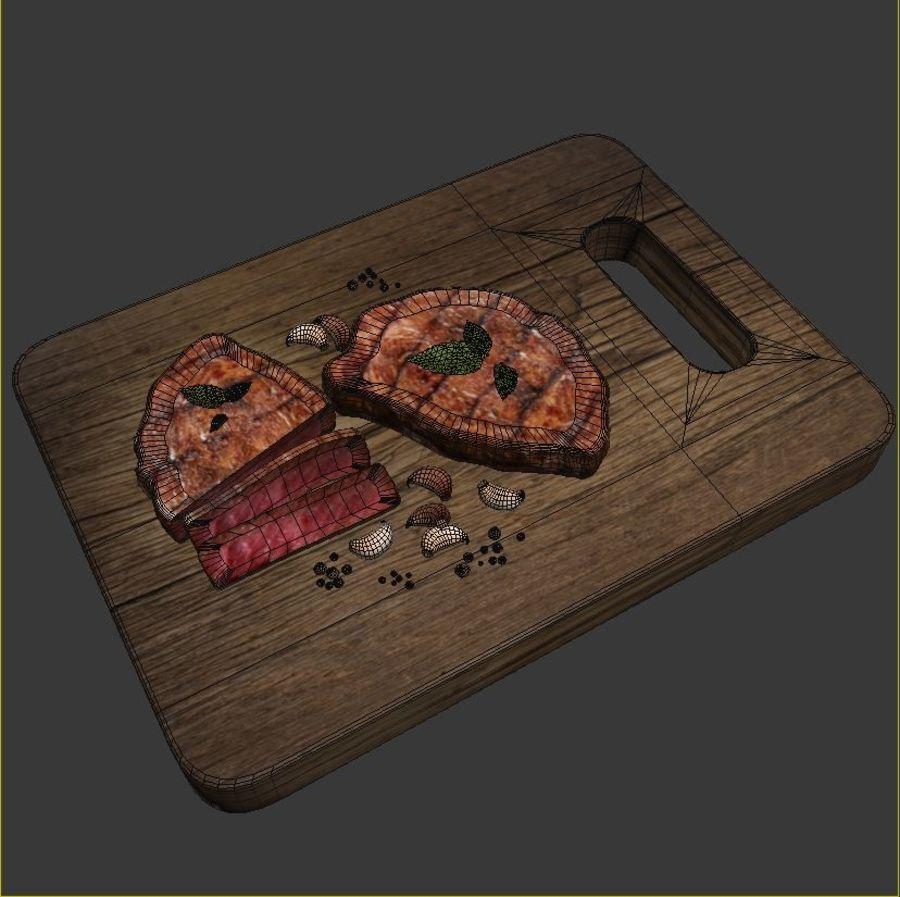 Smaczny Stek royalty-free 3d model - Preview no. 5