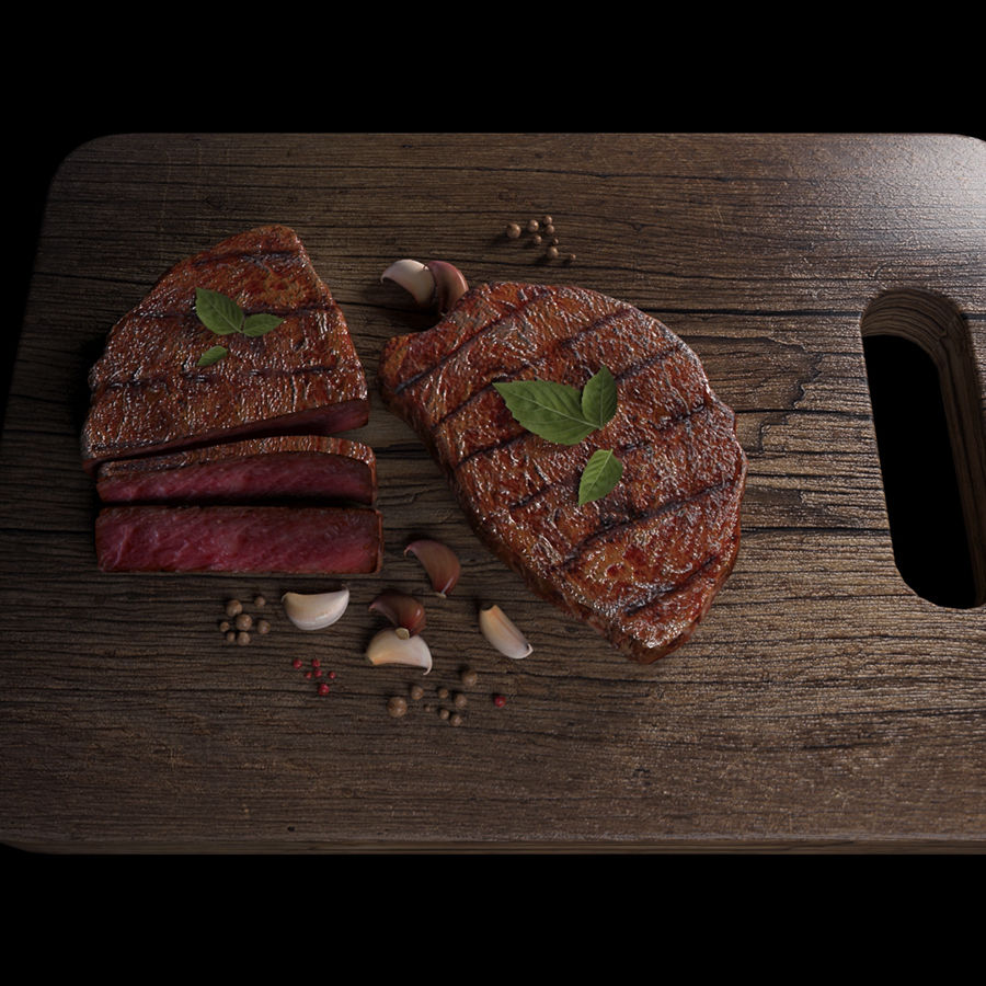 Smaczny Stek royalty-free 3d model - Preview no. 2