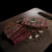 Steak savoureux 3d model
