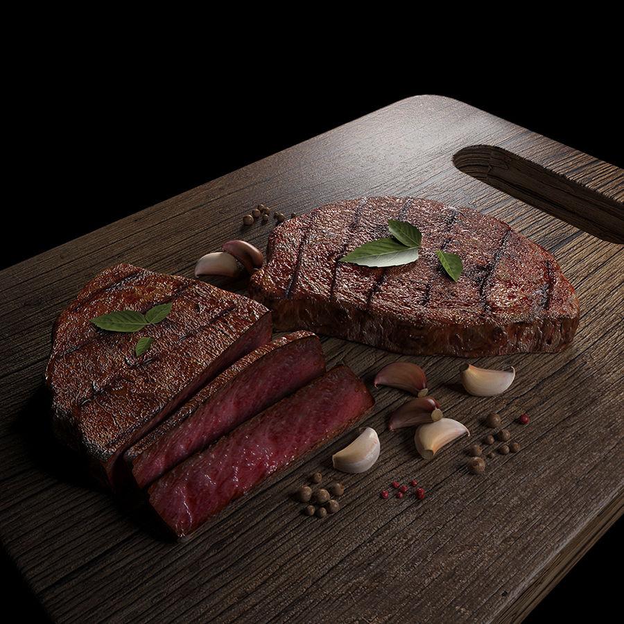 Smaczny Stek royalty-free 3d model - Preview no. 1
