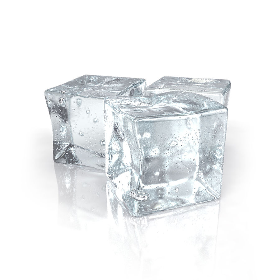 Ice Cubes royalty-free 3d model - Preview no. 1