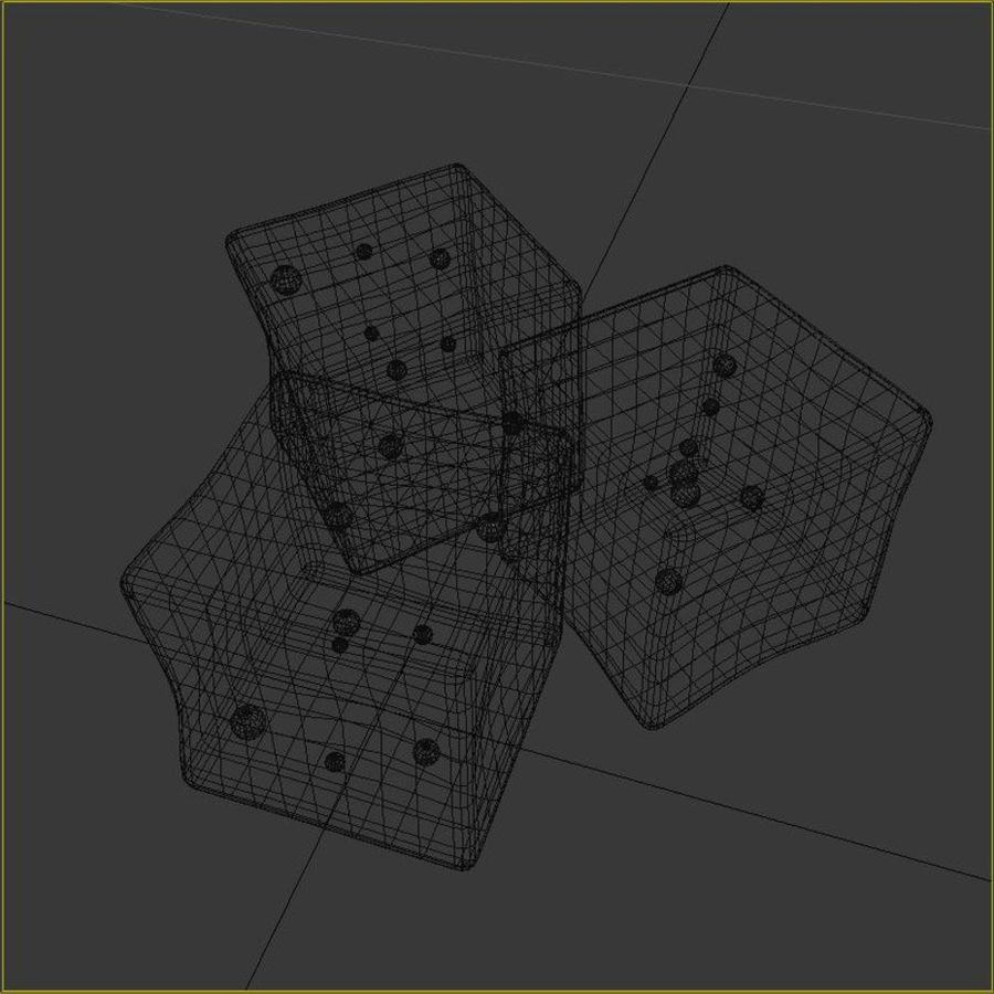 Ice Cubes royalty-free 3d model - Preview no. 6