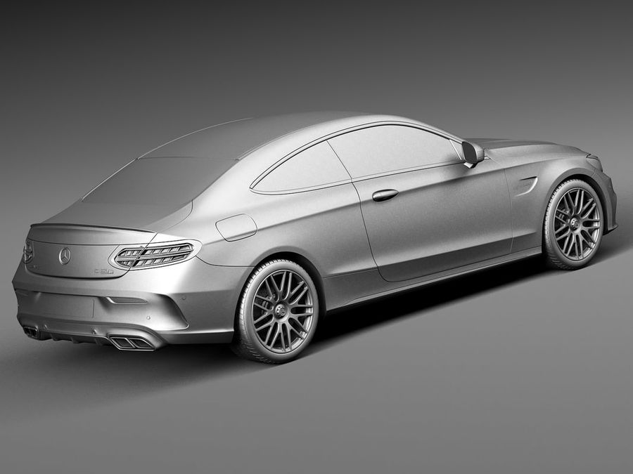 Mercedes-Benz C63 AMG Coupe 2017 royalty-free 3d model - Preview no. 12