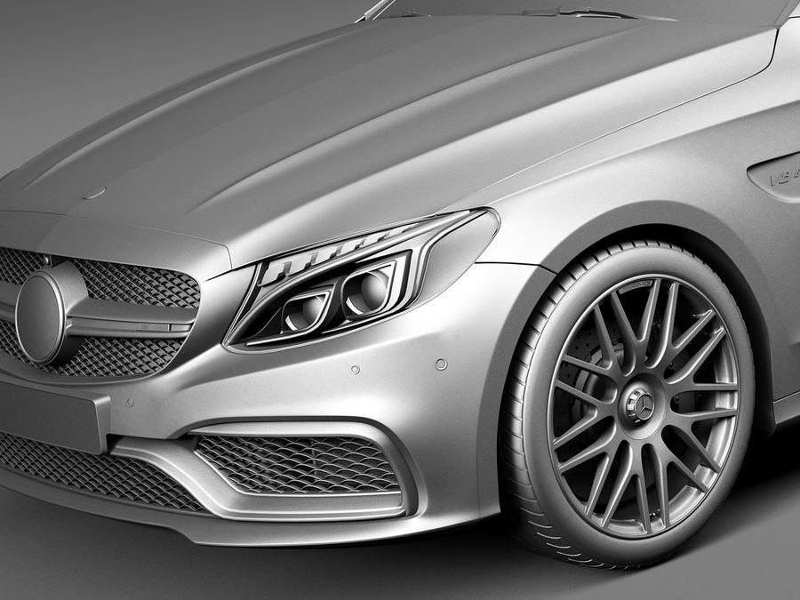 Mercedes-Benz C63 AMG Coupe 2017 royalty-free 3d model - Preview no. 10