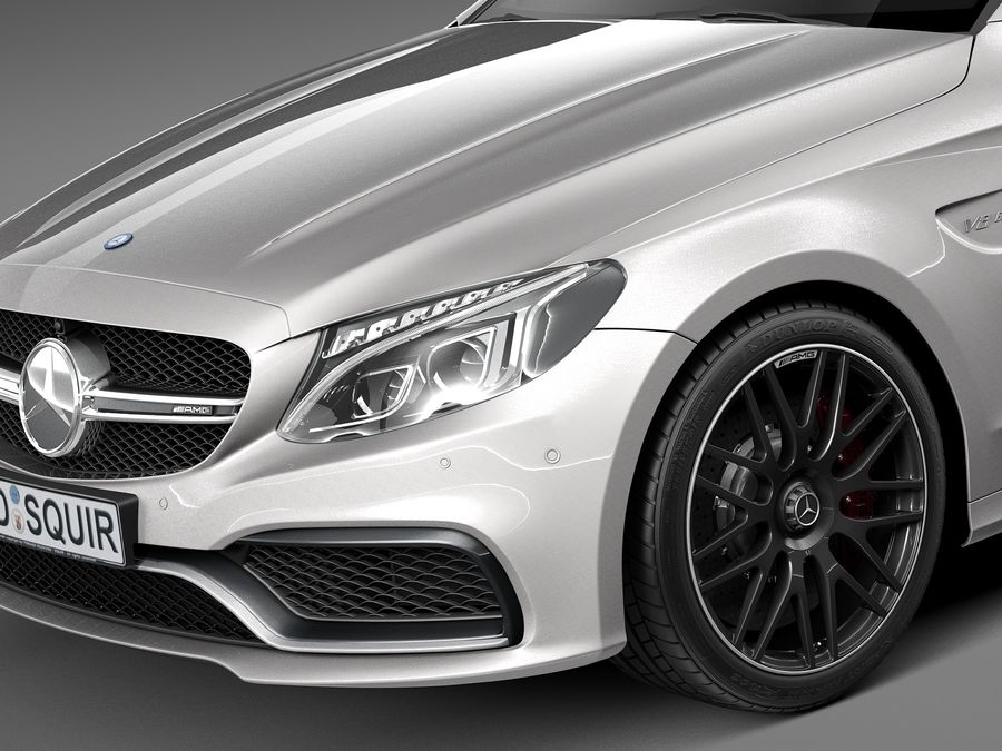 Mercedes-Benz C63 AMG Coupe 2017 royalty-free 3d model - Preview no. 3