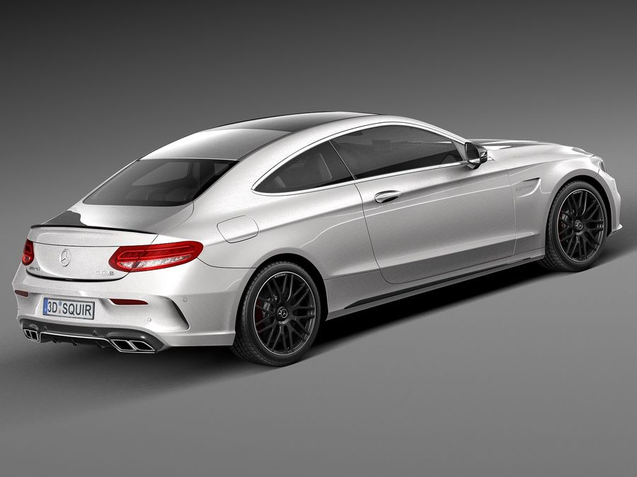 Mercedes-Benz C63 AMG Coupe 2017 royalty-free 3d model - Preview no. 5