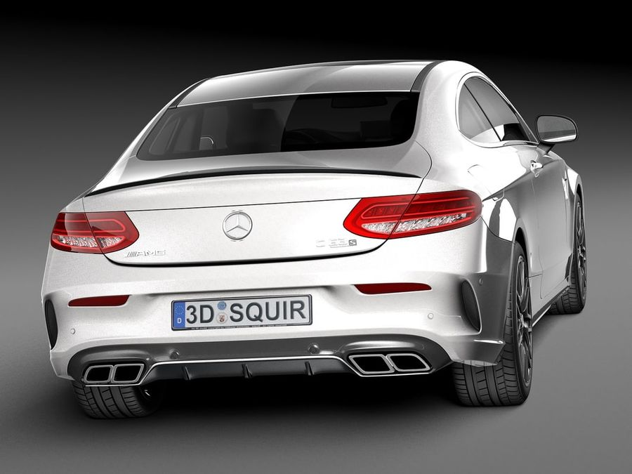 Mercedes-Benz C63 AMG Coupe 2017 royalty-free 3d model - Preview no. 6