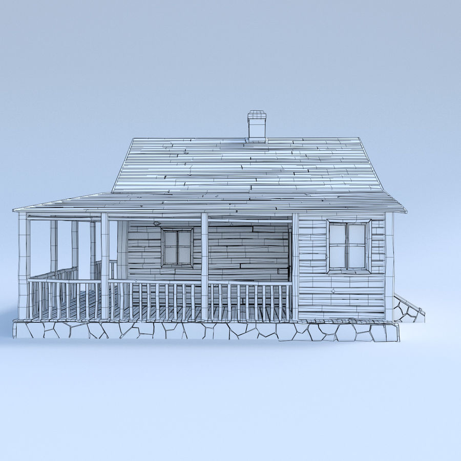 wood house  3d model royalty-free 3d model - Preview no. 4