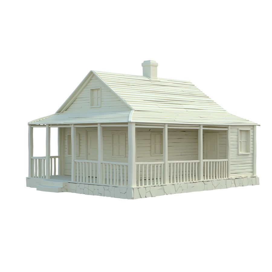 wood house  3d model royalty-free 3d model - Preview no. 1