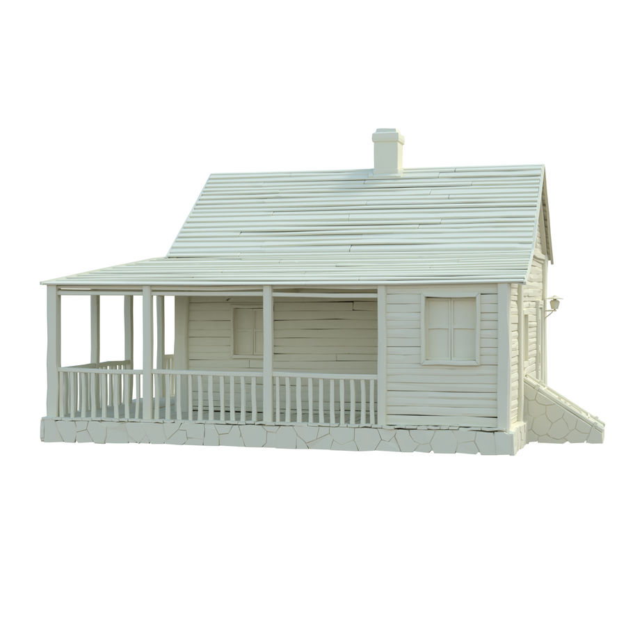 wood house  3d model royalty-free 3d model - Preview no. 9