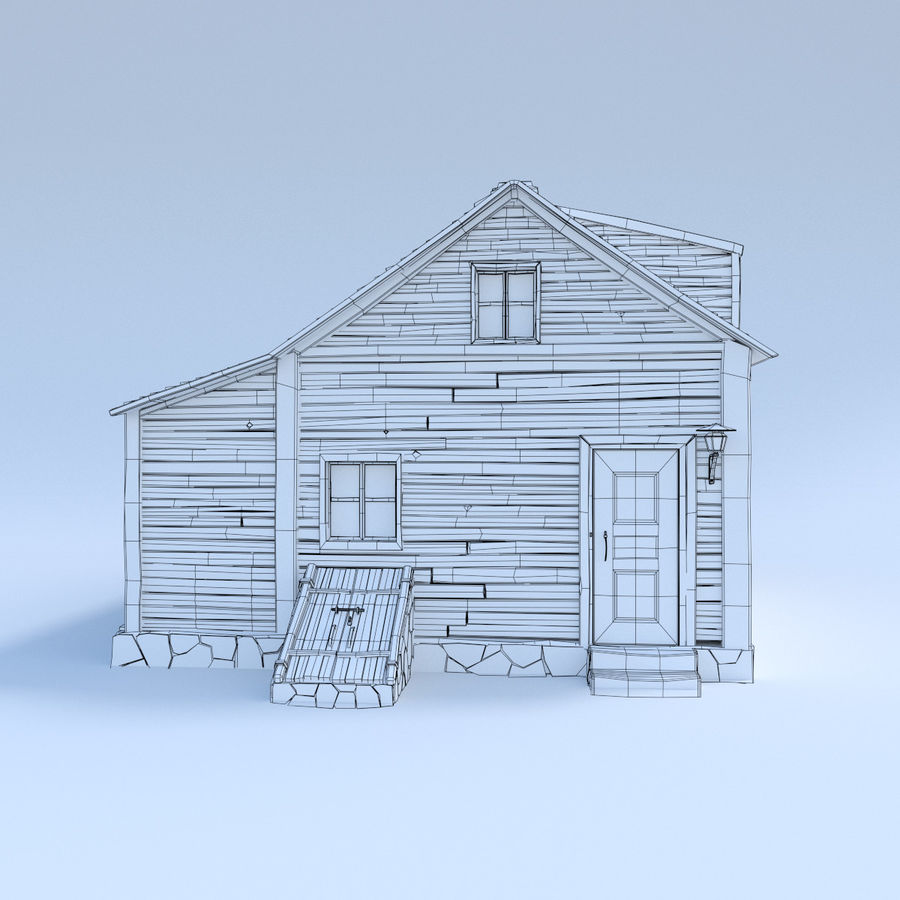 wood house  3d model royalty-free 3d model - Preview no. 6