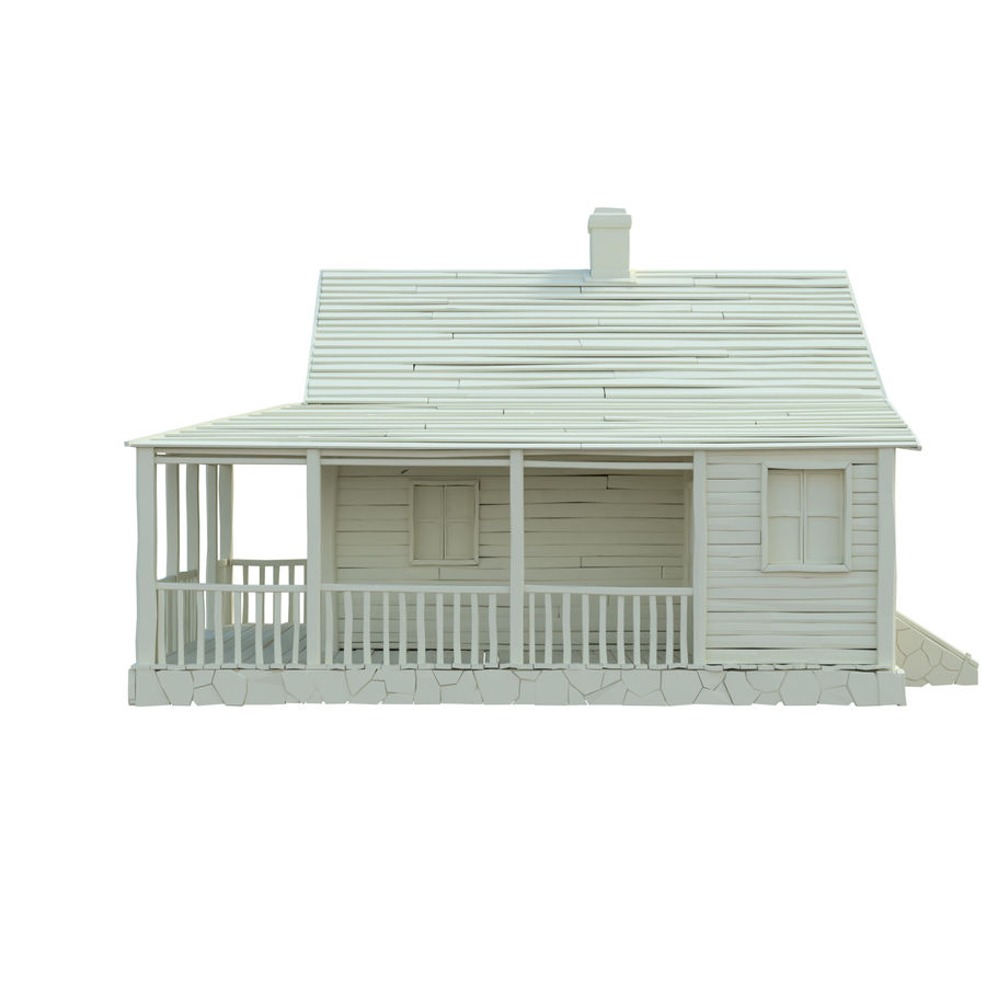 wood house  3d model royalty-free 3d model - Preview no. 8