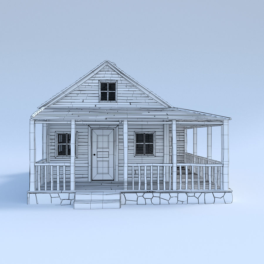 wood house  3d model royalty-free 3d model - Preview no. 2