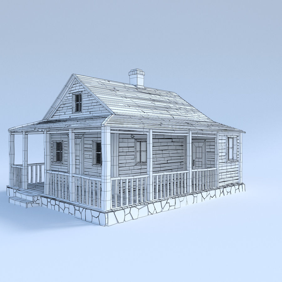 wood house  3d model royalty-free 3d model - Preview no. 3