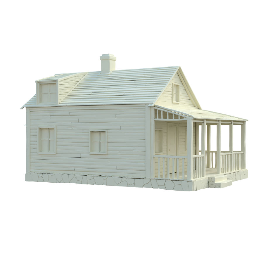 wood house  3d model royalty-free 3d model - Preview no. 12