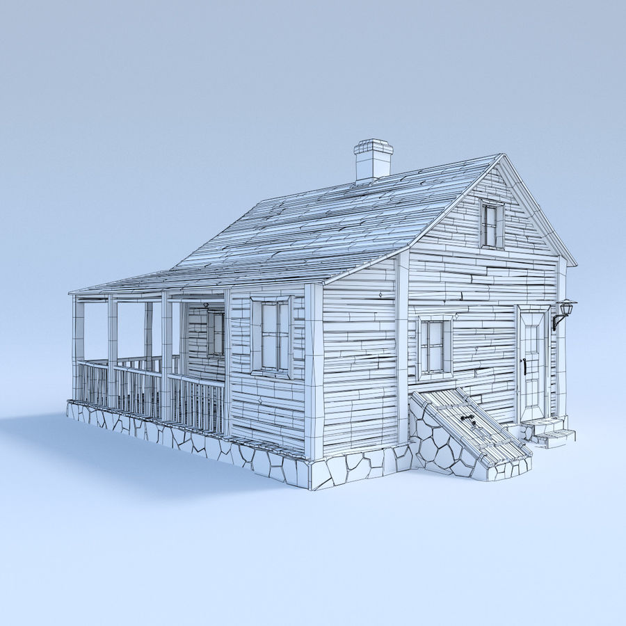 wood house  3d model royalty-free 3d model - Preview no. 5