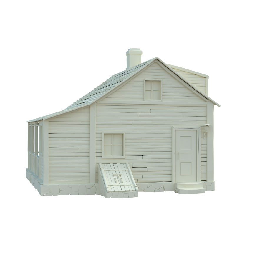 wood house  3d model royalty-free 3d model - Preview no. 10