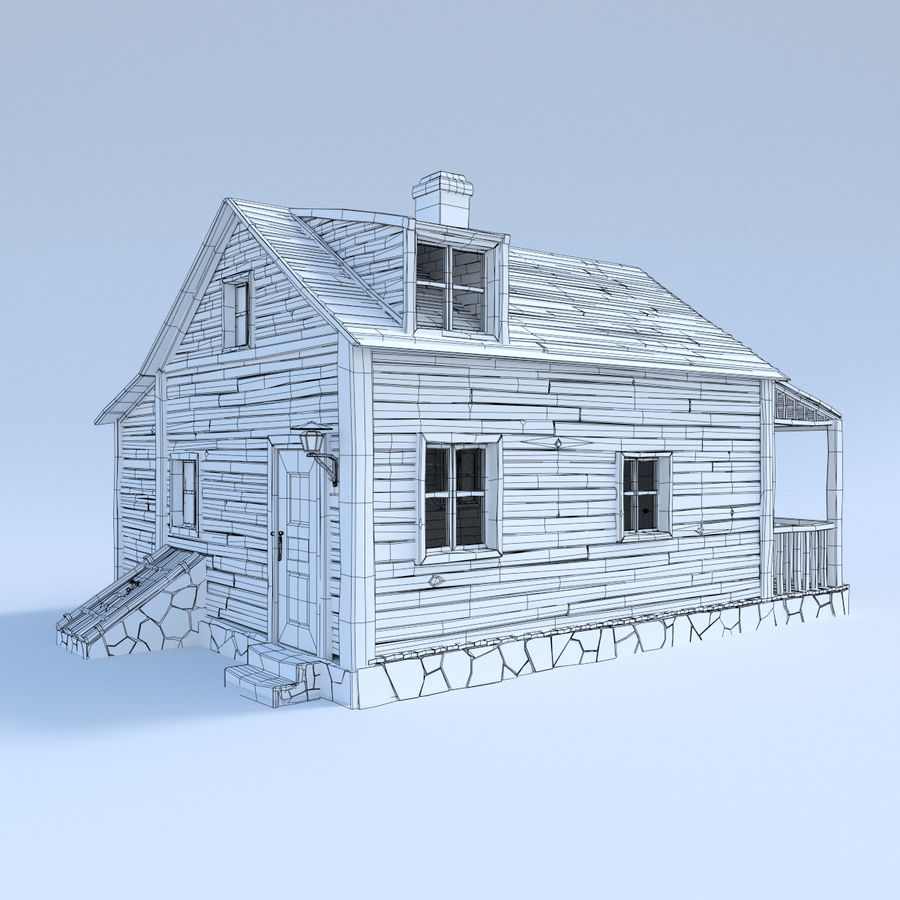 wood house  3d model royalty-free 3d model - Preview no. 7