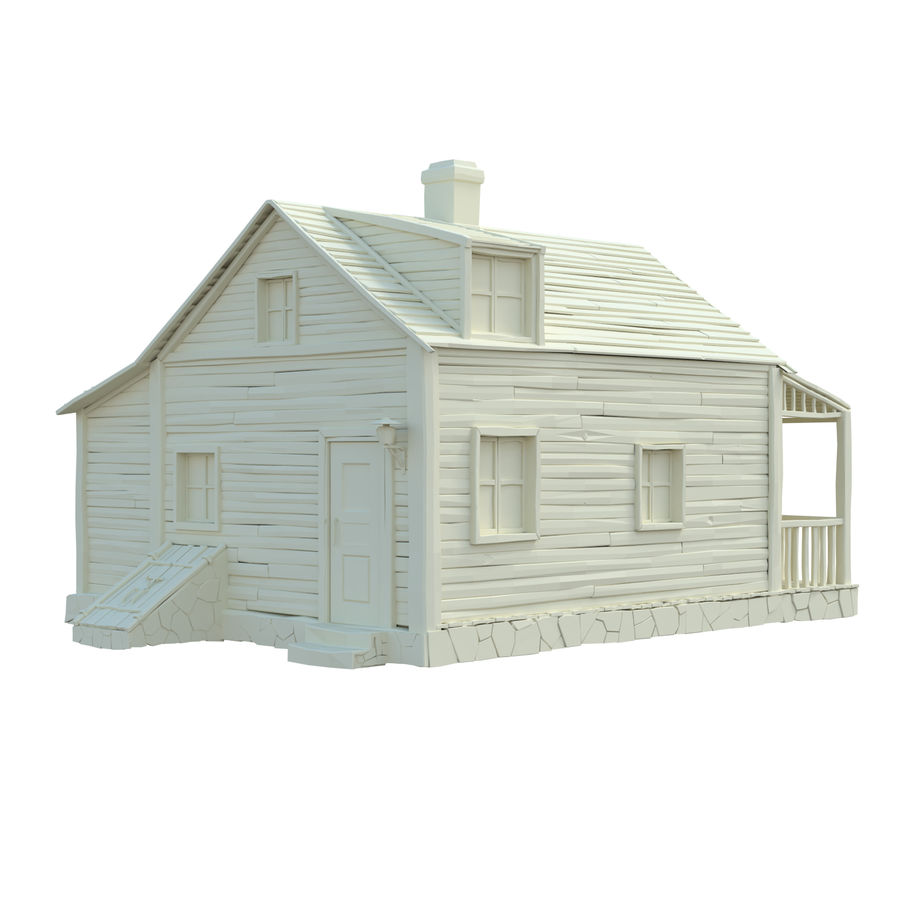 wood house  3d model royalty-free 3d model - Preview no. 11